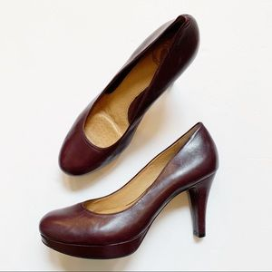 Nurture Burgundy Leather Comfort High Heel 9.5